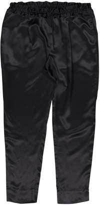 Eres Black Silk Trousers for Women