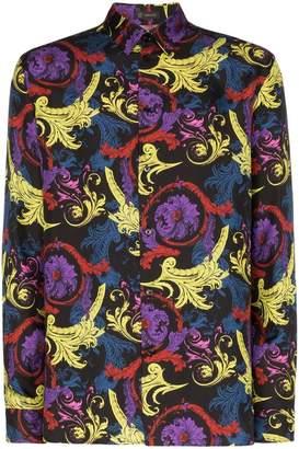 Versace paisley print silk shirt