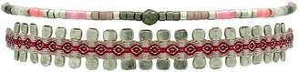 LeJu London - Pink & Silver Bracelet Set