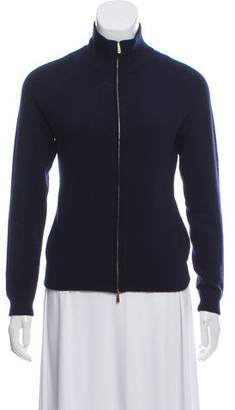 Malo Zip-Up Cashmere Cardigan