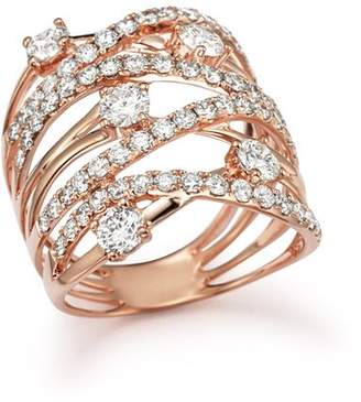 Bloomingdale's Diamond Statement Ring in 14K Rose Gold, 2.25 ct. t.w. - 100% Exclusive