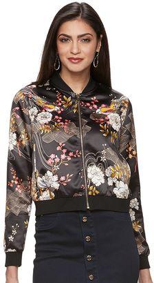 Women's Jennifer Lopez Floral Sequin Bomber Jacket $98 thestylecure.com