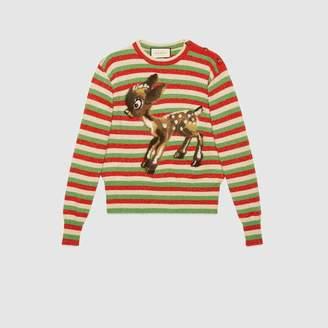 Gucci (グッチ) - フォーン(コジカ) ストライプ ウールルレックス セーター