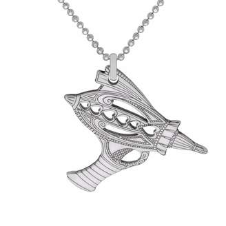 CarterGore - Silver Ray Gun Pendant Necklace