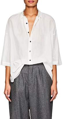 Pas De Calais Women's Sheer Cotton-Silk Blouse