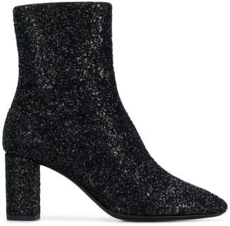 Saint Laurent 'Glitter Sprinkled' ankle boots