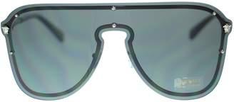 Versace EV Pilot Women Sunglasses VE2180 100087 Silver/Grey Authentic 44mm