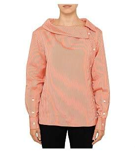 Altuzarra Eileen Button Collar Stripe Shirt