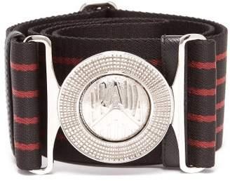 d279a90c9b1d30 Prada Logo Plaque Striped Grosgrain Belt - Mens - Red Multi