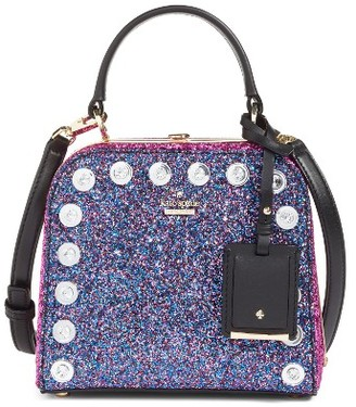 Kate Spade New York Skyline Way Violina Glitter Satchel - Blue $398 thestylecure.com