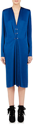 Lanvin Women's Gathered Satin-Finished Crepe Gown $1,890 thestylecure.com