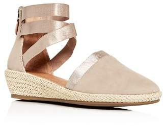 Kenneth Cole Gentle Souls by Women's Noa-Beth Ankle-Strap Low Wedge Sandals