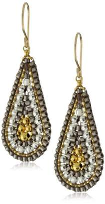 Miguel Ases Sterling Silver and 14k Gold Filled Cluster Drop Earrings