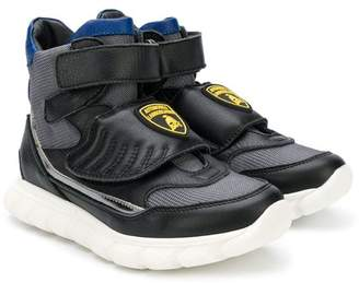 Bumper Lamborghini patch hi-top sneakers