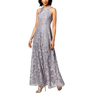 Jessica Howard Women's Halter Neck Fit and Flare Gown