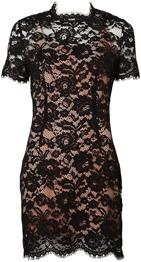 Slimline Lace Tee Dress