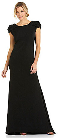 JS Collections Red Carpet Cowl-Back Gown