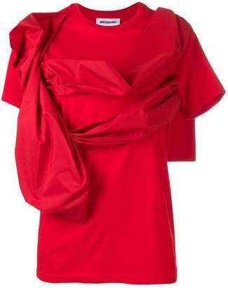 Brognano draped front T-shirt