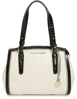 Brahmin Small Alice Leather Satchel - Ivory $325 thestylecure.com