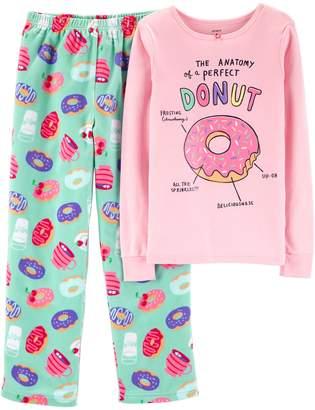 Carter's Girls 4-14 Top & Fleece Bottoms Pajama Set