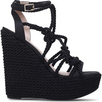 Kurt Geiger Notty rope detail wedge sandals