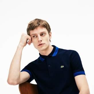 Lacoste Men's Slim Fit Contrast Pima Pique Polo