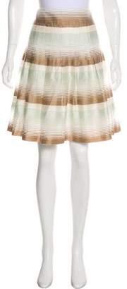 Akris Punto Pleated Knee-Length Skirt