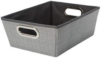 Simplify Medium Herringbone Grommet Shelf Tote in Gray