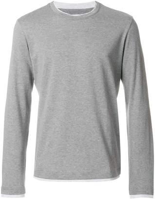 Eleventy longsleeved jersey T-shirt