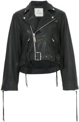 Miharayasuhiro cropped biker jacket