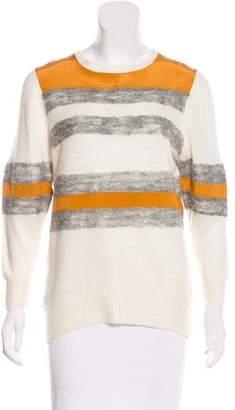 Halston Striped Knit Sweater
