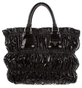 Prada Vernice Gaufre Handle Bag