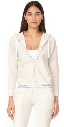 Calvin Klein Underwear Modern Cotton Zip Hoodie $72 thestylecure.com