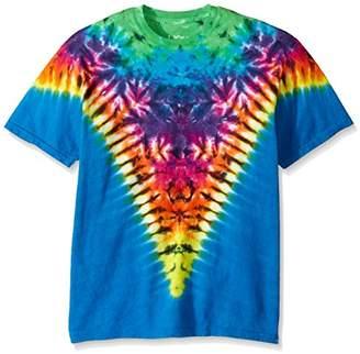 Liquid Blue Men's Rainbow Krinkle V T-Shirt