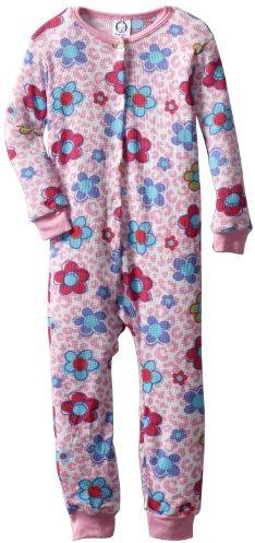 Gerber Baby-Girls Infant 2 Piece Leopard Flowers Thermal Set