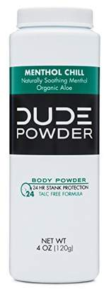 Alöe DUDE Body Powder 4 Ounce Bottle Natural Deodorizers Cooling Menthol & Organic