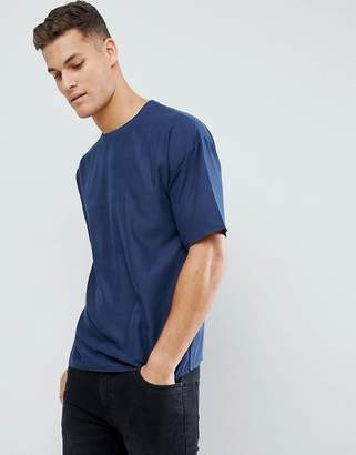 ADPT Crew Neck T-Shirt in Woven Cotton Fabric