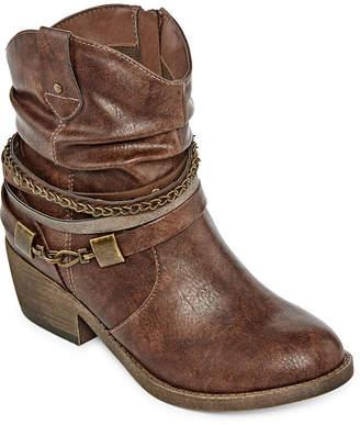 POP Womens Odile Cowboy Boots Block Heel