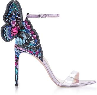 Sophia Webster Silver and Blue Chiara Embroidery Sandals