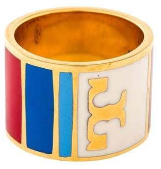 Tory Burch Geo Striped Ring