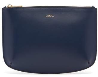 A.P.C. Sarah Leather Pouch - Womens - Blue Navy