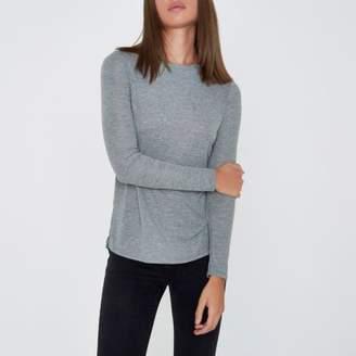River Island Womens Grey basic long sleeve top