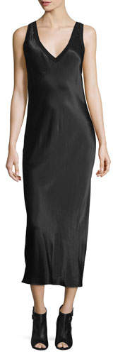 DKNYDKNY Sleeveless V-Neck Midi Dress, Black