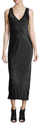 DKNY Sleeveless V-Neck Midi Dress, Black $358 thestylecure.com