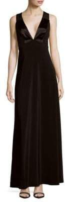 Jill Stuart Solid Crisscross-Back Gown