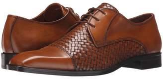 Matteo Massimo 4-Eye Woven Cap Toe Men's Lace Up Cap Toe Shoes