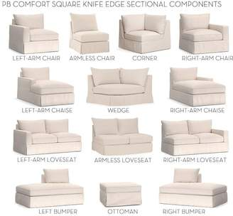 Pottery Barn Build Your Own - PB Comfort Square Arm Slipcovered Sectional Components Scatter Back