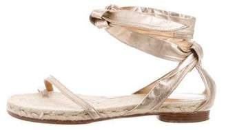 Hermes Metallic Espadrille Sandals