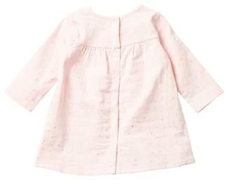 Aden Anais aden + anais Long Sleeve Pocket Dress (Baby Girls 9-12M)