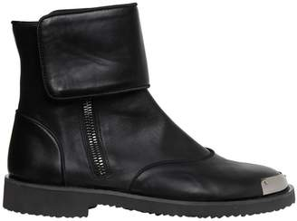 Giuseppe Zanotti Design Smooth Leather Boots W/ Metal Toe